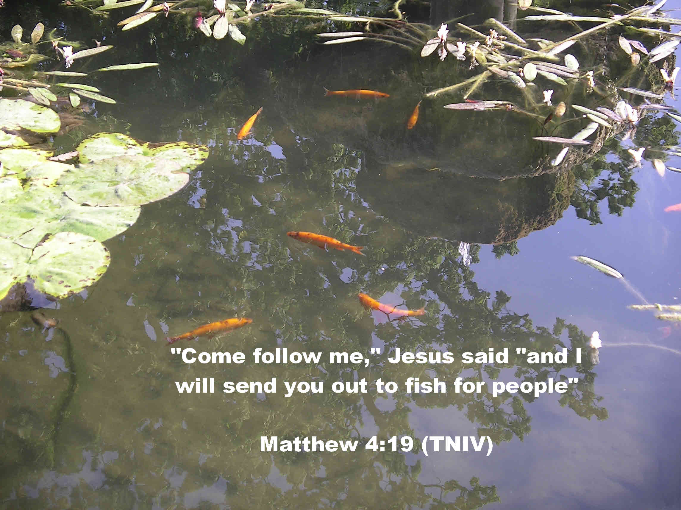 Follow me, said Jesus